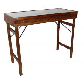 Nádherný konzolový stôl so skleným vrchom