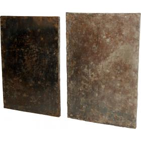 Old and raw industrial iron plate