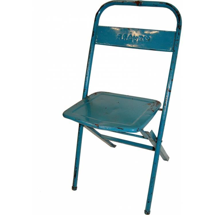 Skladacia stolička - modrá