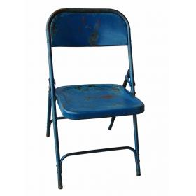 Folding chair - dark blue