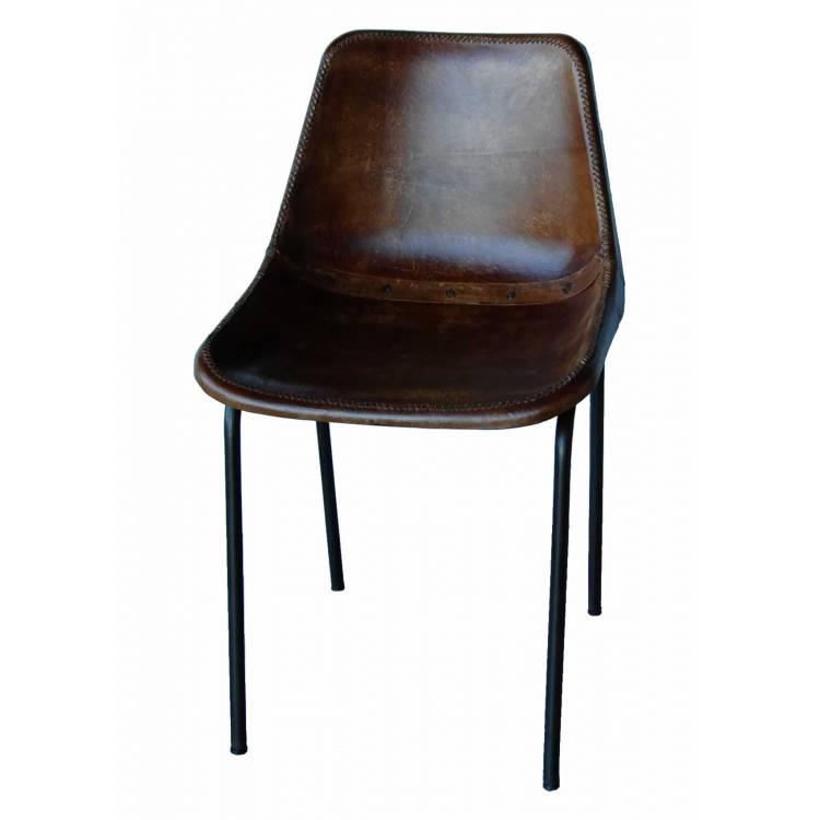 Kožená vintage stolička