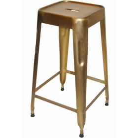High stool - Brass