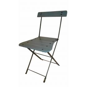 Lovely folding chair - gray blue