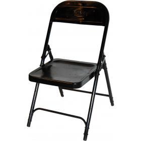 Skladacia stolička - čierna s lakovaním