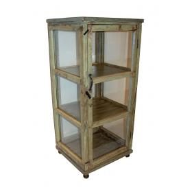 Old vintage doors, made into a lovly glass cabinet