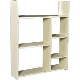 Wall shelf with compartments