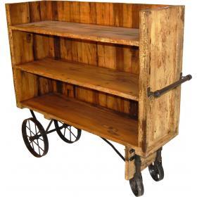 Praktický regál-nákupný vozík na kolieskach