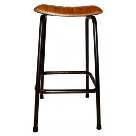 Bar stool with leather