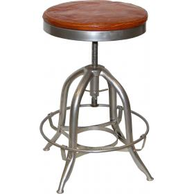 Rotating stool in industrial style