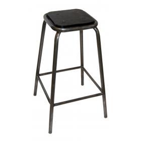 Vysoká železná stolička s gumeným sedadlom