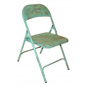 Old folding chair - light green