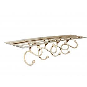 Iron shelf with 4 hooks