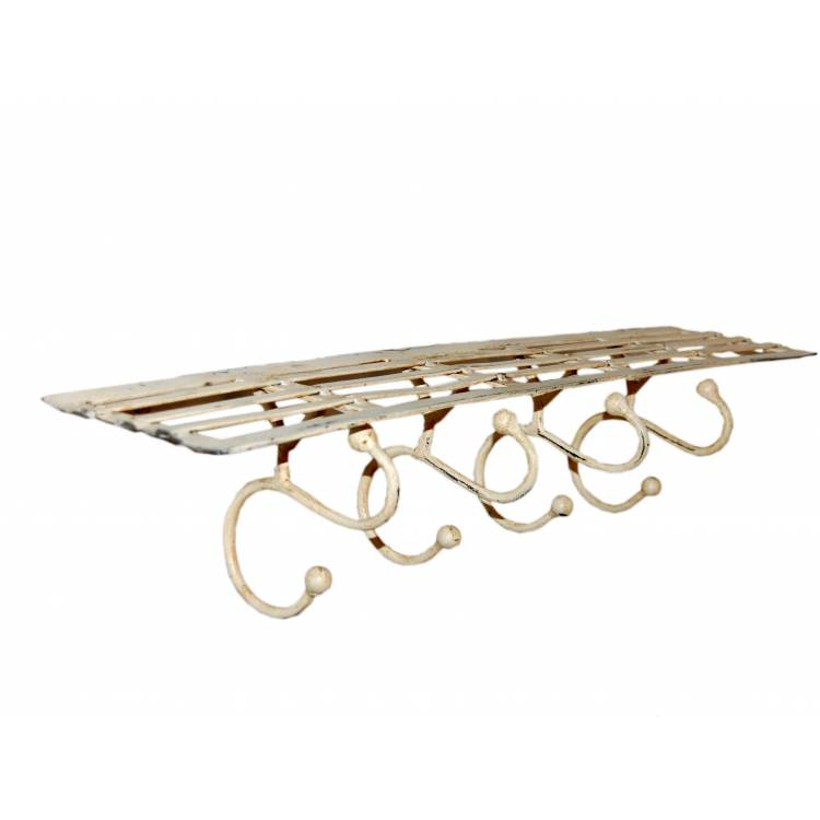 Iron shelf with 4 hooks