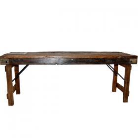 Staré drevené lavice - možno sklopiť