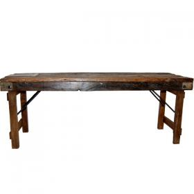 Skladacia drevená lavica
