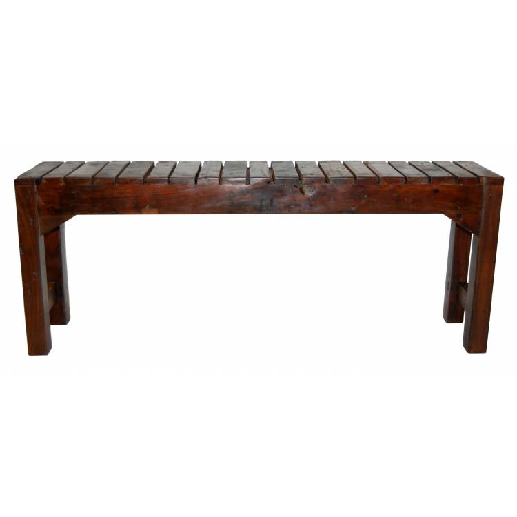 Old wooden bench - with slats