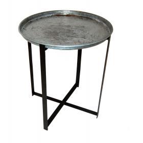 Okrúhly stôl - opotrebovaný zinok