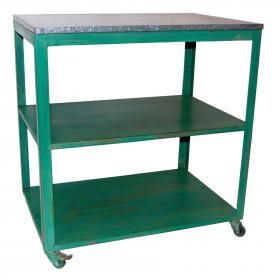 Regálový stôl/obchodný pult - zelená farba