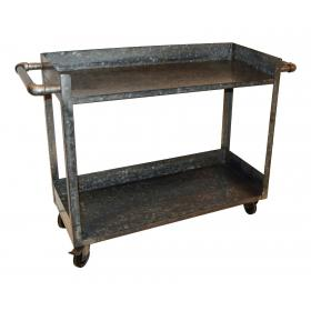 Trolley table / shop counter made of galvanized iron