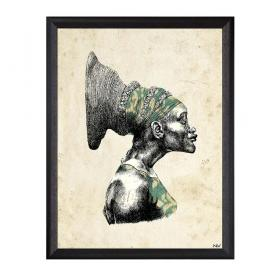 Picture with frame - Black woman - Large
