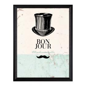 Picture with frame - Bowler hat - Large