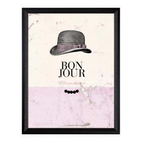 Obraz s rámom - klobúk- veľký