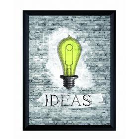 Obraz s rámom - žiarovka - veľký