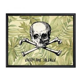 Picture with frame - Skull - Large