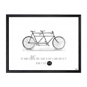 Obraz s rámom - tandem bicykel - veľký
