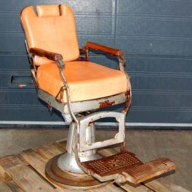 Original old barber chair