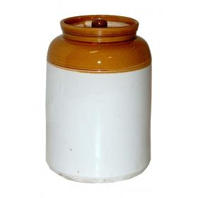 Big clay pot with lid - old vintage