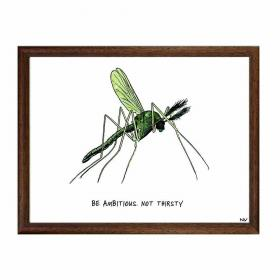 Obraz s rámom - Komár - malý
