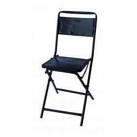 Stará skladacia stolička - čierna