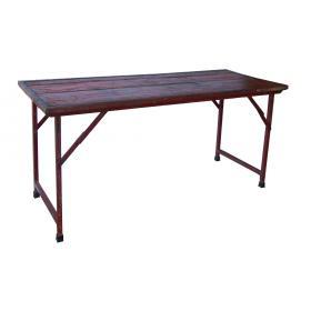 Originálny starý stôl - červený