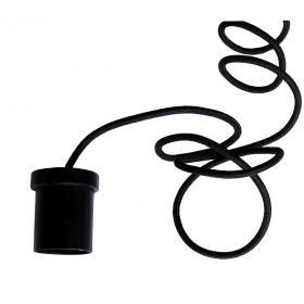 Kábel na žiarovku - čierny