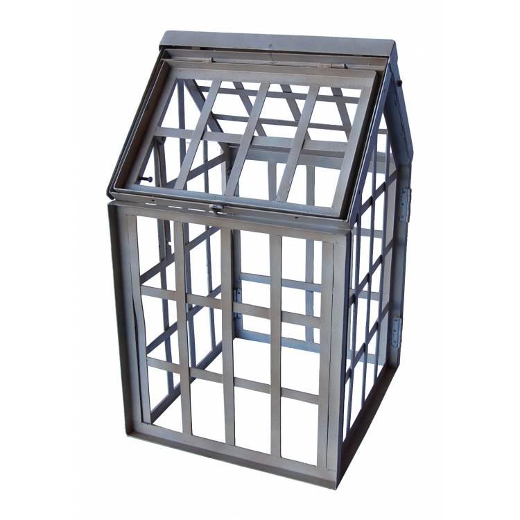 mini gew chshaus in eisen aber ohne glas. Black Bedroom Furniture Sets. Home Design Ideas
