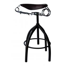 Rotujúca stolička s koženým sedadlom