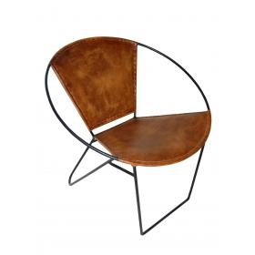 Cool trendy chair with leather