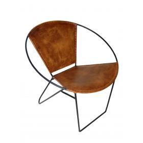 Moderná stolička s kožou