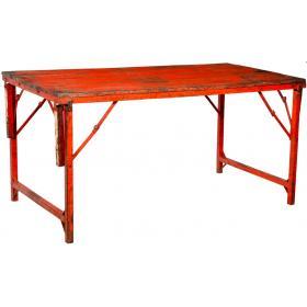 Rustikálny stôl s viacerými funkciami - mix červená