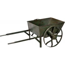 Large, solid iron handcart - dark green
