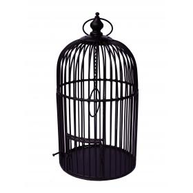 Bird cage in iron - dark brown