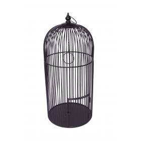 Large bird cage in iron - black
