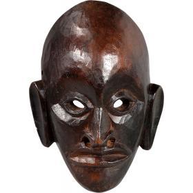 Drevená maska s patinou