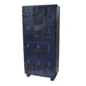 """Cool old industrial """"Worker"""" cabinet - blue"""