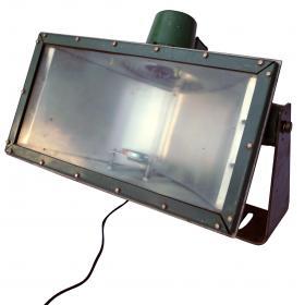 Original old industrial lamp - green