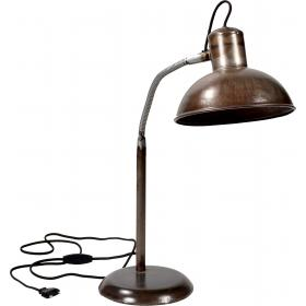 Table lamp with antique finish
