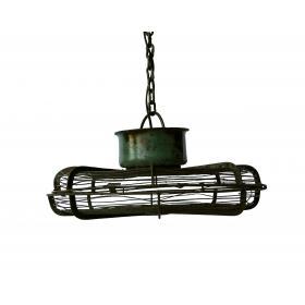 Závesná lampa s osobným prístupom - tmavá zelená