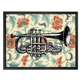 Picture with frame - Trumpet - Large