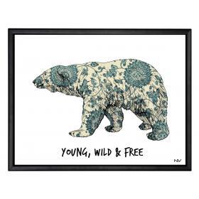"""Obraz s rámom - """"Polárny medveď"""" - malý"""